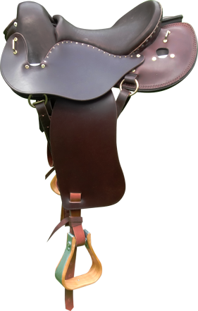 selle equitation hugues petel aventure omega chocolat