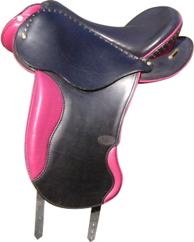 AVANTAGE coloris noir / rose selle equitation hugues petel