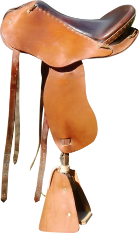 selle equitation hugues petel avenir caramel chocolat