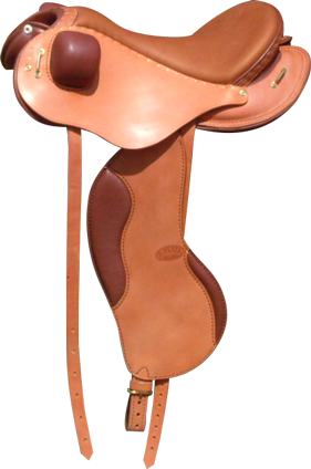 LIGHT coloris caramel / chocolat selle equitation hugues petel