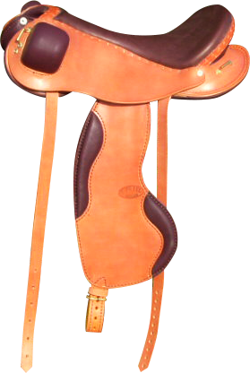 PERFORMANCE coloris caramel / chocolat selle equitation hugues petel