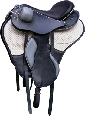selle equitation hugues petel raids noir tapis