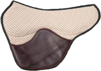 Tapis fenders coloris beige / chocolat selle équitation Hugues PETEL