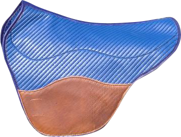 tapis fenders coloris bleu noisette selle equitation hugues petel