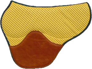 Tapis fenders coloris jaune noisette selle équitation Hugues PETEL