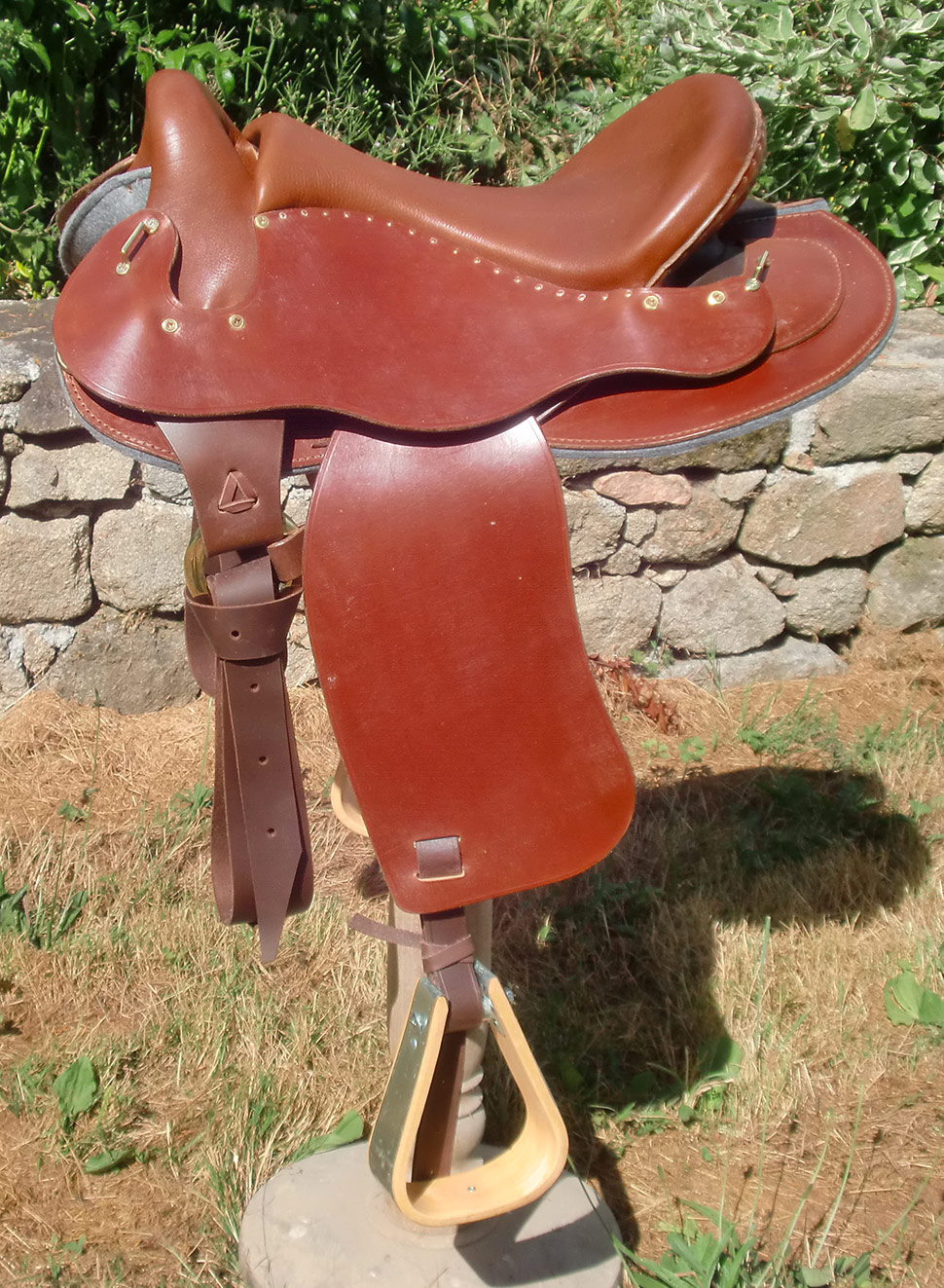 selle equitation hugues petel aventure alpha noisette